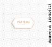 stock vector arabic pattern... | Shutterstock .eps vector #1364809325