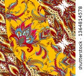 silk scarf with paisley | Shutterstock .eps vector #1364814578