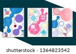 stock vector covers templates... | Shutterstock .eps vector #1364823542