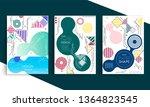 stock vector covers templates... | Shutterstock .eps vector #1364823545