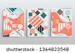 stock vector covers templates... | Shutterstock .eps vector #1364823548
