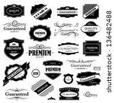 vintage design elements   set.... | Shutterstock .eps vector #136482488