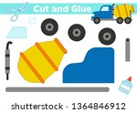 cut and glue  create the image  ... | Shutterstock .eps vector #1364846912