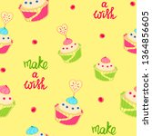 seamless pattern with colorful... | Shutterstock .eps vector #1364856605