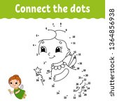 dot to dot. draw a line.... | Shutterstock .eps vector #1364856938