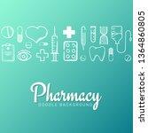pharmacy and medical banner... | Shutterstock .eps vector #1364860805