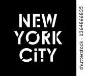 new york city typography modern ... | Shutterstock .eps vector #1364866835