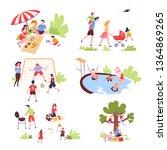 summer outdoor activity and... | Shutterstock .eps vector #1364869265