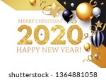 happy new 2020 year  shining... | Shutterstock .eps vector #1364881058