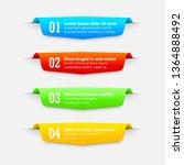 gradient infographics banners.... | Shutterstock .eps vector #1364888492