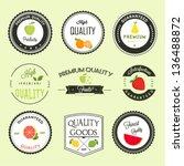 fruits premium quality labels... | Shutterstock .eps vector #136488872