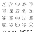 yummy smile line icons.... | Shutterstock .eps vector #1364896328