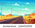 Empty Highway Road In Desert ...