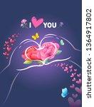 happy mother's day  heart...   Shutterstock .eps vector #1364917802