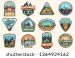 set of rock climbing club and... | Shutterstock .eps vector #1364924162