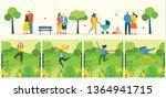 vector nature eco backgrounds... | Shutterstock .eps vector #1364941715