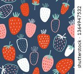 seamless childish pattern with... | Shutterstock .eps vector #1364947532