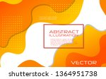 dynamic style orange wave... | Shutterstock .eps vector #1364951738