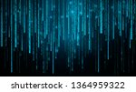 falling random numbers. blue...   Shutterstock .eps vector #1364959322