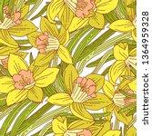 beautiful arrangement of spring ... | Shutterstock .eps vector #1364959328