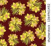 beautiful arrangement of spring ... | Shutterstock .eps vector #1364961452