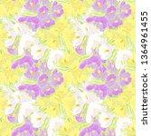 pattern of spring doodle flower ... | Shutterstock .eps vector #1364961455