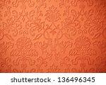 Baroque Orange Wallpaper...