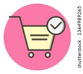 verified cart items icon design  | Shutterstock .eps vector #1364989265