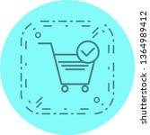 verified cart items icon design  | Shutterstock .eps vector #1364989412