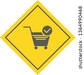 verified cart items icon design  | Shutterstock .eps vector #1364990468