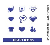 heart  love icons  signs set ... | Shutterstock .eps vector #136499096