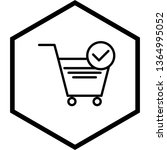 verified cart items icon design  | Shutterstock .eps vector #1364995052