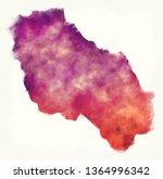 berat watercolor county map of... | Shutterstock . vector #1364996342