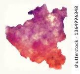 diber watercolor county map of... | Shutterstock . vector #1364996348