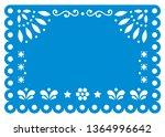 papel picado vector template...   Shutterstock .eps vector #1364996642