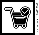 verified cart items icon design  | Shutterstock .eps vector #1364997062