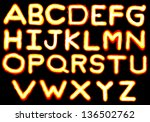 "character ""a z"" of fire on... 
