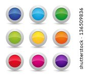 colorful round buttons | Shutterstock .eps vector #136509836