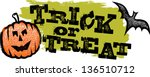 trick or treat distressed... | Shutterstock .eps vector #136510712