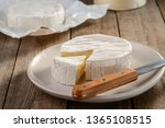 Camembert Cheese On White Plate ...