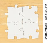 four blank puzzle pieces on... | Shutterstock . vector #1365108545