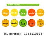 Citrus Fruit Colorful Labels...