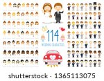 set of 114 wedding characters... | Shutterstock .eps vector #1365113075