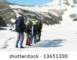 group go up in hike | Shutterstock . vector #13651330