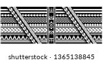 tribal pattern tattoo ... | Shutterstock .eps vector #1365138845