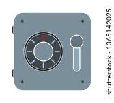 safe box icon   vector security ... | Shutterstock .eps vector #1365142025