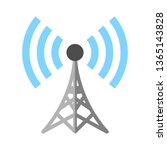 satellite tv or radio antenna... | Shutterstock .eps vector #1365143828