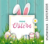 german text frohe ostern ... | Shutterstock .eps vector #1365192035
