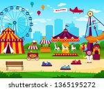 Amusement Park. Attractions...