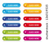colorful long round buttons... | Shutterstock .eps vector #136519535